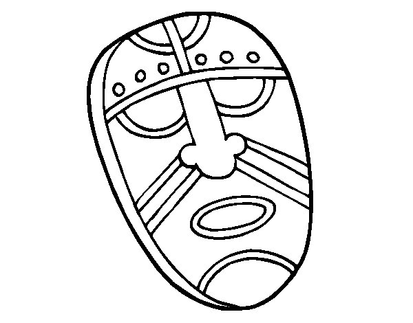 Dibujo de Máscara embobada para Colorear