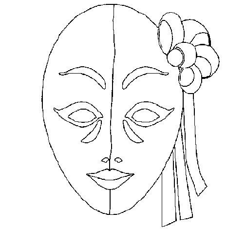 Dibujo de Máscara italiana para Colorear