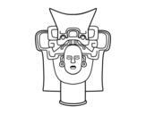 Dibujo de Máscara mexicana antigua para colorear