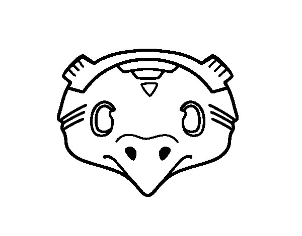 Dibujo de Máscara mexicana de pájaro para Colorear