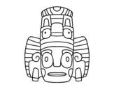 Dibujo de Máscara mexicana de rituales