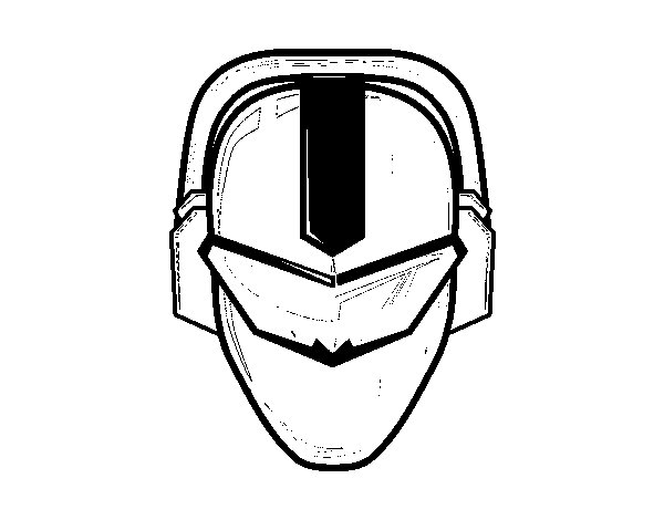 Dibujo de Máscara power ranger para Colorear