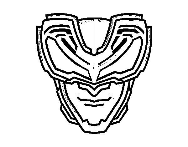 Dibujo de Máscara Rayos X para Colorear