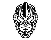 Dibujo de Máscara robot para colorear