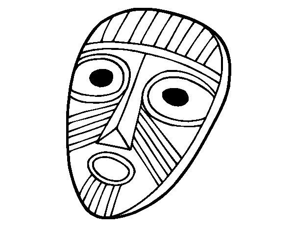 Dibujo de Máscara sorprendida para Colorear