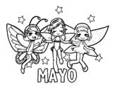 Dibujo de Mayo para colorear