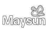 Dibujo de Maysun para colorear