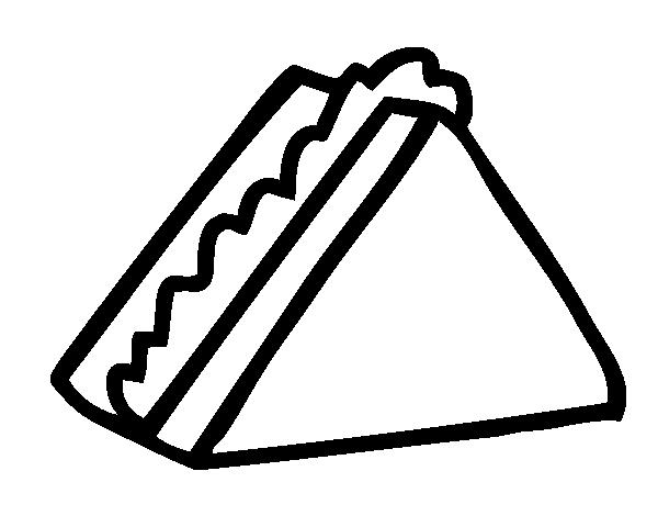 Dibujo De Medio Sandwich Para Colorear Dibujos Net