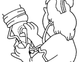 Dibujo de Astronauta con cohete