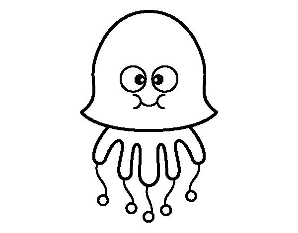 Dibujo de medusa divertida para colorear for Medusa da colorare