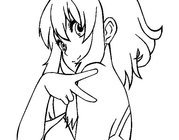 Dibujo de Megpoid Gumi Vocaloid para Colorear