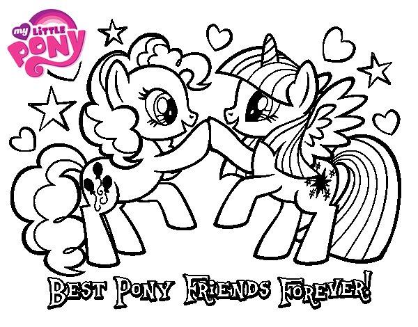 Dibujo de Mejores Pony Amigas para siempre para Colorear