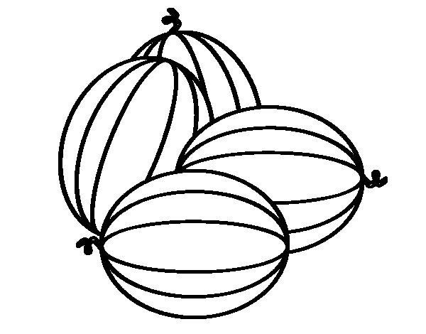 Dibujo de Melones para Colorear  Dibujosnet