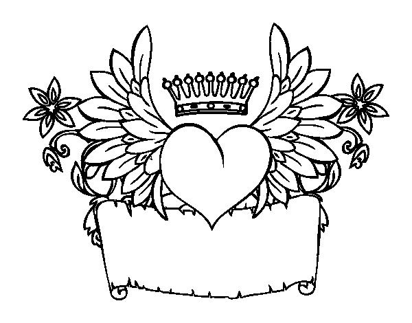 Dibujo de mensaje con coraz n para colorear for Disegni da colorare cuori