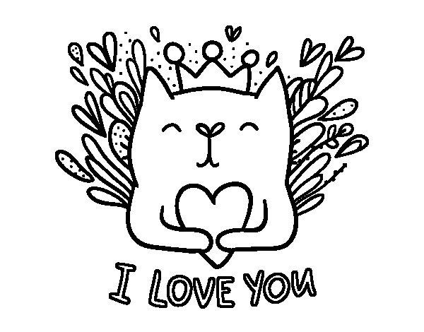 Dibujo de Mensaje de Amor para Colorear