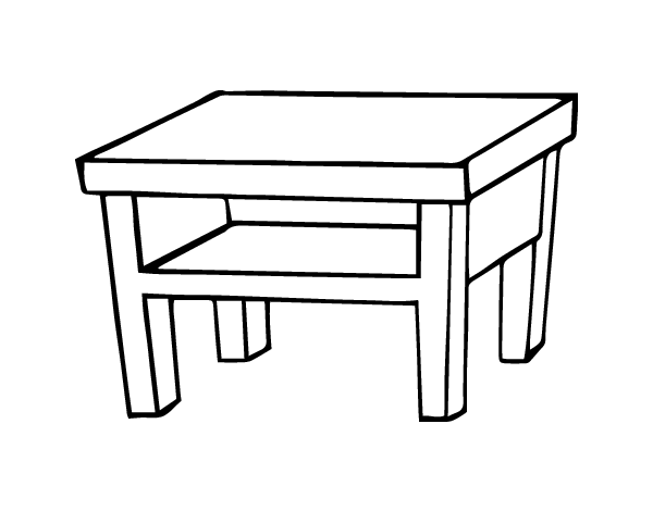 Dibujo de mesa de sal n para colorear for Mesas de dibujo baratas