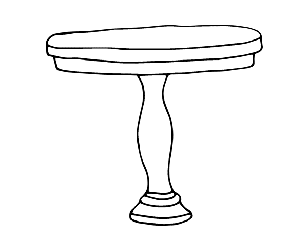 Dibujo de mesa redonda para colorear - Mesas de dibujo ...