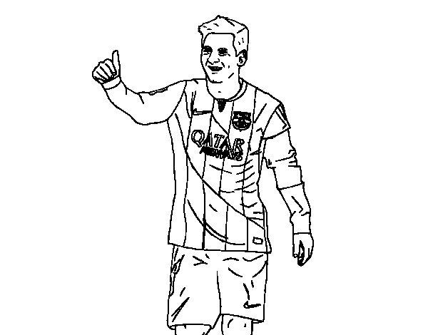 Dibujo de Messi Bara para Colorear  Dibujosnet