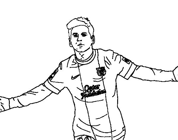 Dibujo de Messi para Colorear  Dibujosnet