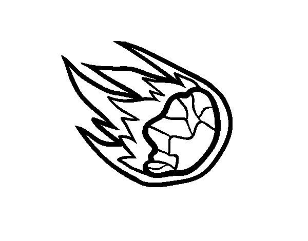 Dibujo de Meteorito para Colorear