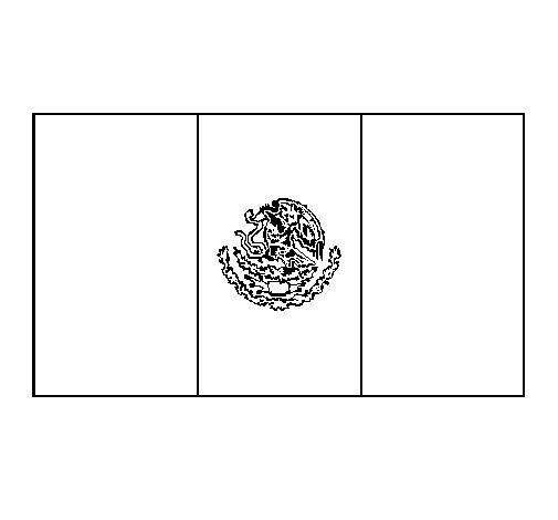 Dibujo de México 1 para Colorear