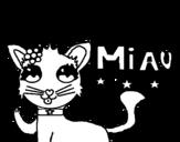 Dibujo de Miau para colorear