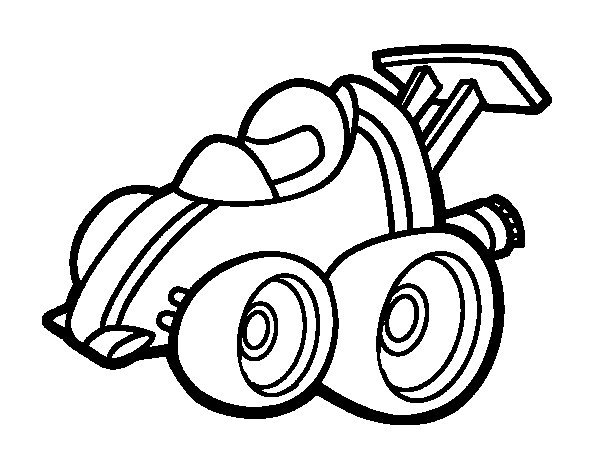 Dibujo de Micro Fórmula 1 para Colorear