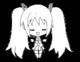 Dibujo de Miku ángel para colorear