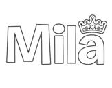 Dibujo de Mila para colorear