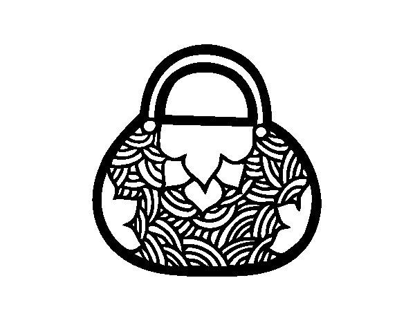 Dibujo de Mini bolso de inspiración japonesa para Colorear