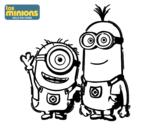 Dibujo de Minions - Carl y Kevin para colorear