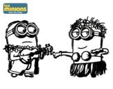 Dibujo de Minions - Dave y Phil para colorear