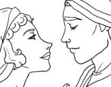 Dibujo de Mirada de novios para colorear