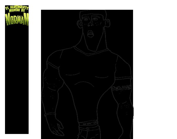 Dibujo de Mitch para Colorear