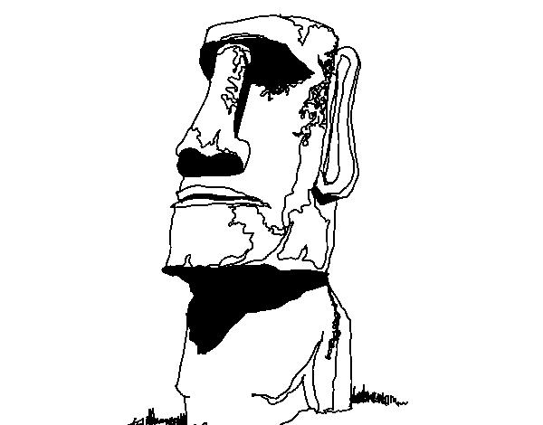 Dibujo de Moi de la Isla de Pascua para Colorear  Dibujosnet