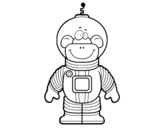 Dibujo de Mono espacial