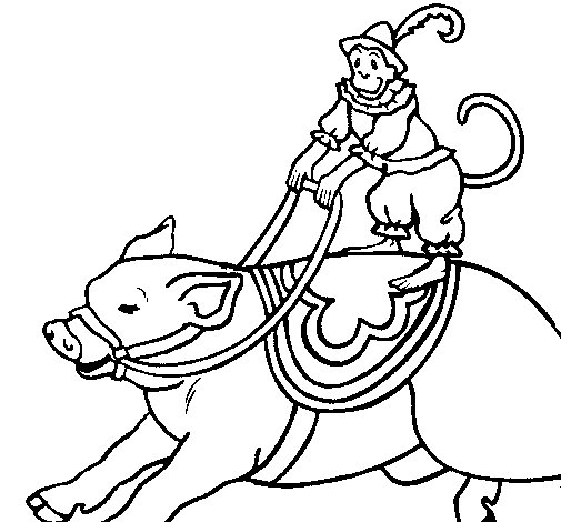 carnival monkey coloring pages - photo#43