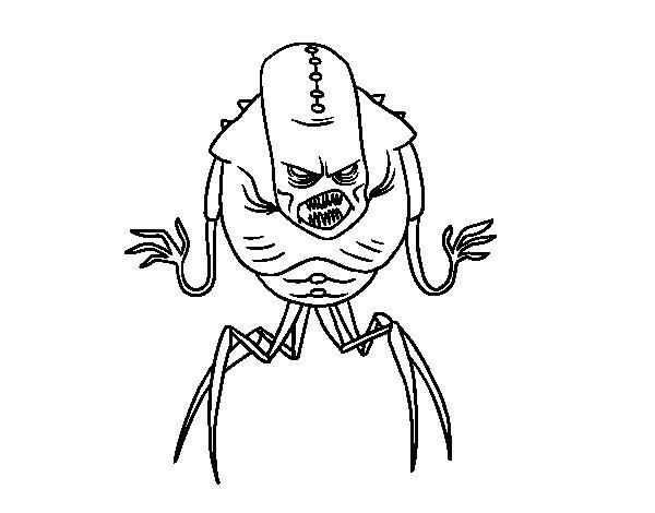Dibujo de Monstruo alien arácnido para Colorear