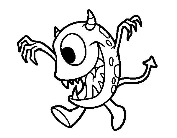 Dibujo de Monstruo con un ojo para Colorear