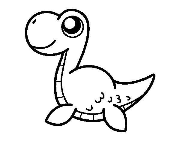 Dibujo de Monstruo del lago Ness para Colorear