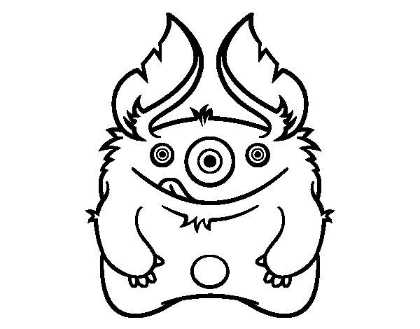 Dibujo de Monstruo peludo para Colorear