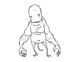 Dibujo de Monstruo súper feo