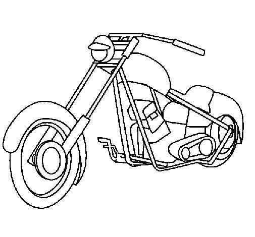 Dibujo de Moto 1 para Colorear  Dibujosnet