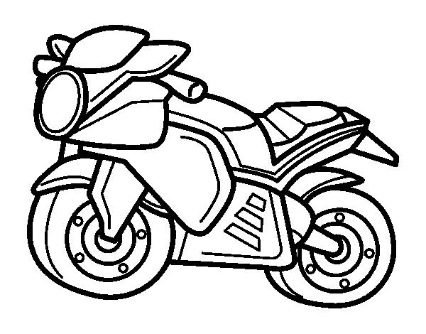 Dibujo de Moto deportiva para Colorear - Dibujos.net
