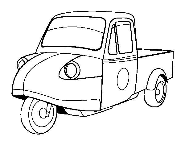 Dibujo de Moto furgoneta para Colorear