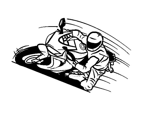 Dibujo de Moto GP para Colorear  Dibujosnet
