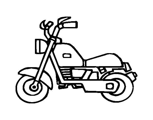 Dibujo de Moto harley para Colorear