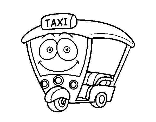 Dibujo de Moto  Taxi para Colorear  Dibujosnet