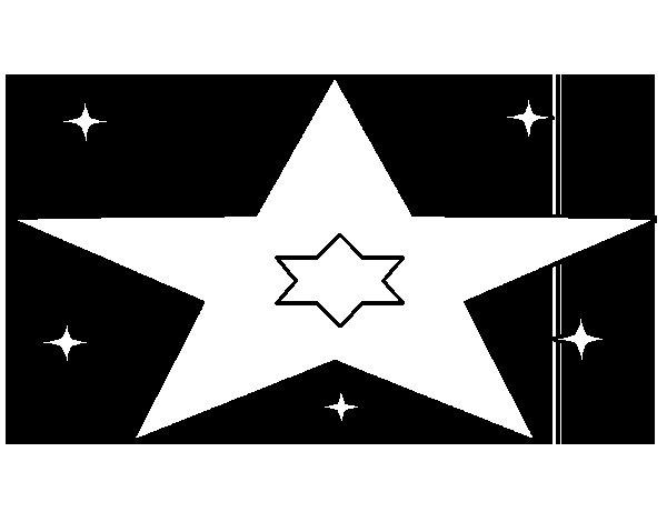 Dibujo de Muchas estrellas para Colorear