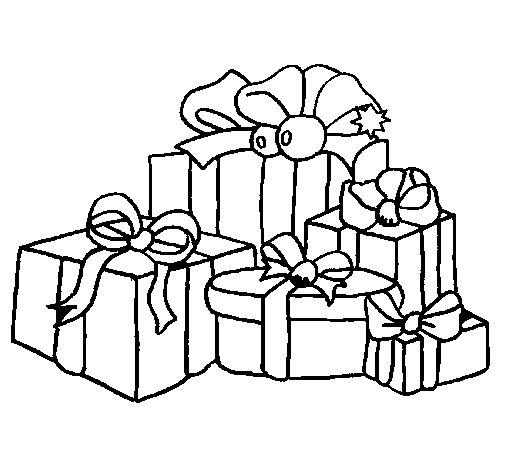 Dibujo de Muchos regalos 1 para Colorear